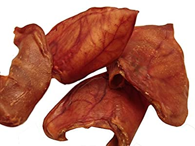 Pig Ears, LARGE!, 25 Packs, *Sourced* and Made in USA, All natural hickory smoked, USDA human grade quality by Sawmill Creek Smokehouse