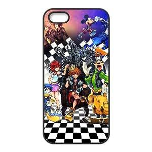Kingdom Hearts HD 1.5 Remix Funda iPhone 5 5S Funda caja del teléfono celular Negro E1D8JN7Y Funda caja del teléfono celular para chicos de plástico