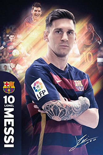 FC Barcelona - Sports Poster / Print (Lionel Messi - 2015 / 2016) (Size: 24
