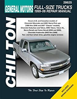 general motors full size trucks 1988 98 repair manual chilton rh amazon com general motors service manuals general motors service manual pdf