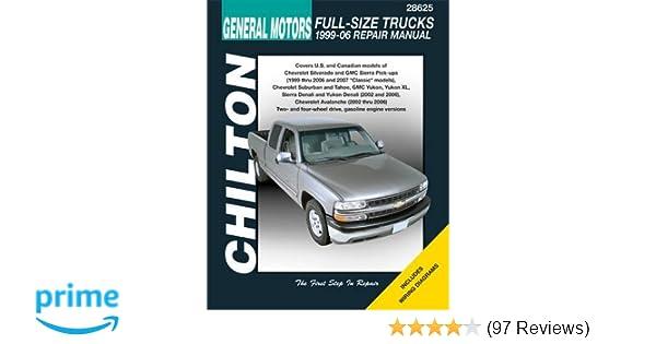 gm full size trucks 1999 06 repair manual chilton s total car care rh amazon com 97 chevy suburban manual 97 Suburban 22