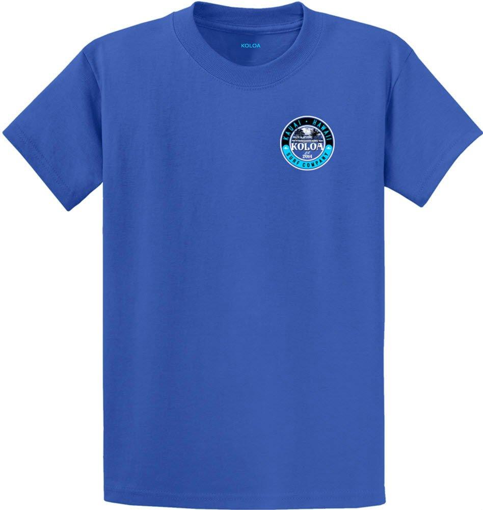 Joe's USA Koloa Surf カスタムグラフィック重量系コットンTシャツ レギュラー、ビッグ、トール B06Y4V6JV4 XL,Royal With Kauai Palms Logo