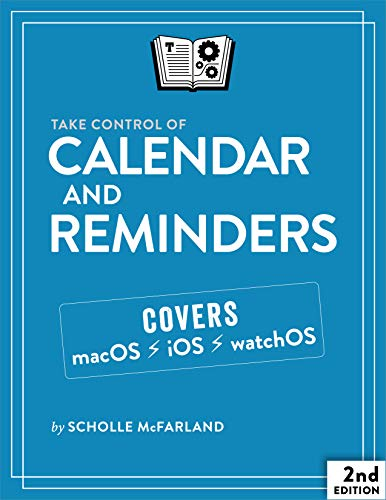 Take Control of Calendar and Reminders, 2nd Edition Front Cover