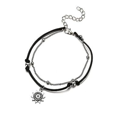 c881fdcb7e1 Trolax Vintage Bohemian Star Elephant Anklets Bracelet For Women Boho  Pendant Double Layer Beach Anklet Foot