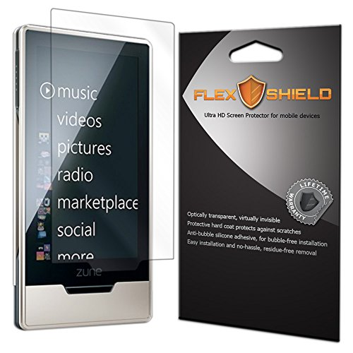 Microsoft Zune HD Screen Protector (5-Pack), Flex Shield Clear Screen Protector for Microsoft Zune HD Bubble-Free and Scratch Resistant Film