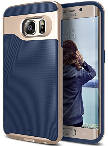 Galaxy S6 Edge Case, Caseology [Wavelength Series] Slim Dual Layer Protective Textured Grip Corner Cushion Design for Samsung Galaxy S6 Edge - Navy Blue
