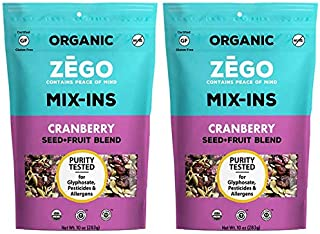 product image for ZEGO Foods Seed + Fruit Mix-Ins, Trail Mix, Non GMO, Organic, Vegan, Gluten Free, 10oz (Cranberry Bundle of 2)
