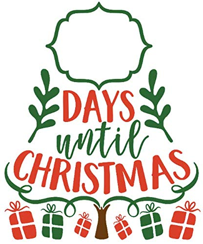 Until Christmas.Amazon Com Christmas Vinyl Decal Days Until Christmas