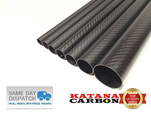 DIY 2pcs 3k Carbon Fiber Tube OD 24mm x ID 22mm x Length 500mm Roll Wrapped