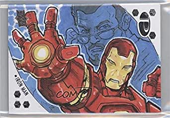 Iron Man #1/1 (Trading Card) 2017 Upper Deck Marvel Premier - Sketch Cards Character #IM