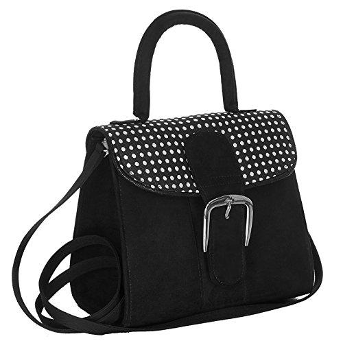 Handbag Riva Shoo Silver Ladies Friendly Black Ruby Spots Vegan TPq8wq