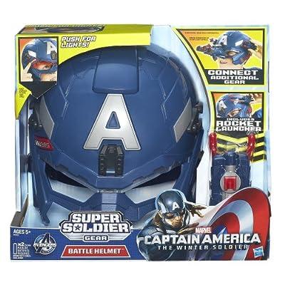 Captain America Marvel Super Soldier Gear Battle Helmet: Toys & Games