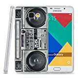 Kit Me Out CAN® Samsung Galaxy A3 (2016) [Shock Absorbing] [Thin Fit] TPU Gel Case Cover Skin Pouch - Multicoloured Vintage / Retro Stereo