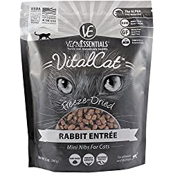 Vital Essentials FREEZE-DRIED RABBIT MINI NIBS FREEZE DRIED CAT FOOD CAT TREATS 12OZ (Fast Free Delivery)
