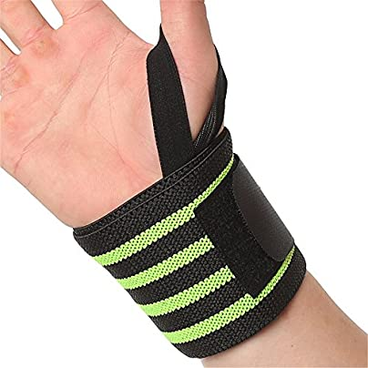 Sumferkyh Sports Wristband Breathable Power Weightlifting Pressure Wrist Straps For Men And Women Relief for Carpal Tunnel Sprains Arthritis Color Green Estimated Price £12.14 -