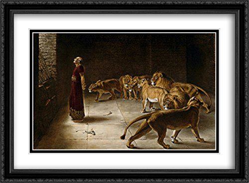 Daniel's Answer to The King 2X Matted 38x28 Large Black Ornate Framed Art Print by Briton Riviere