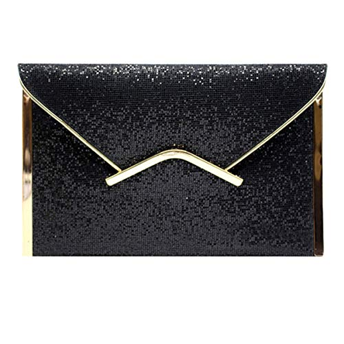 Party Glitter Meliya Women's Bag Evening Clutch Sequin Prom Bling Envelope Purse Handbag 1 Black Y8gxw68n