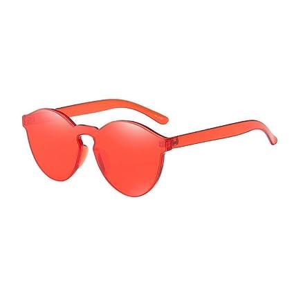 Gafas, Challeng Hombre y mujer de verano retro gafas de gato Moda neutra Plancha de hierro plano Piloto Espejo Glamour Lens Travel Gafas de sol (rojo)
