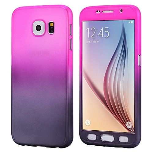 360 Degree Hard Plastic Case for Samsung Galaxy S6 Edge (Gold) - 6