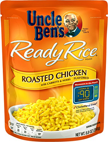 Uncle Ben's Ready Rice: Roasted Chicken Flavored Rice, Ready to Heat 8.8 Oz Pouches, Pack of 6