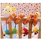 ELENKER Giraffe Baby Crib Toy from Wrap Around Crib Rail Toy or Stroller Toy Favorite Baby Toys