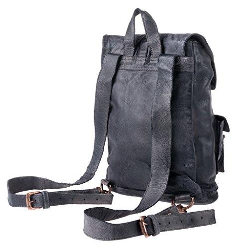 Negro DuDu al hombro para Cuero Bolso de Negro 580 1148 compact mujer 01 wqRP1S