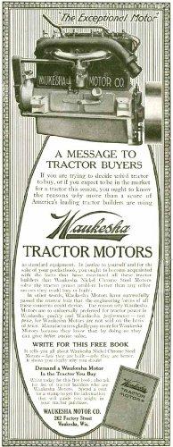 1921 AD for Waukesha Nickel Chrome Tractor Motors Original Paper Ephemera Authentic Vintage Print Magazine - Waukesha Motor