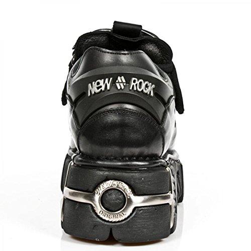 Nuovi Stivali Di Roccia M.126-c1 Gotico Hardrock Punk Stiefelette Unisex Schwarz