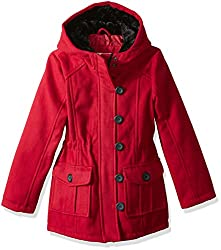 Urban Republic Big Girls' Ur Wool Jacket, Scarlet Red 5814asr, 16