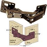 Platte River 937037, 5-pack, Hardware, Hinges, Concealed, 175d Surface Mounted Hinge Dark Bronze