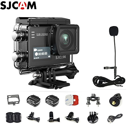 SJCAM SJ6 Kit {Including Extra Battery, SJCAM Long Microphone } SJ6 LEGEND Dual Screen 2″ LCD Touch Screen 2880×2160 Novatek NT96660 MN34120PA CMOS 4K Ultra HD Sport DV Action Camera For Sale