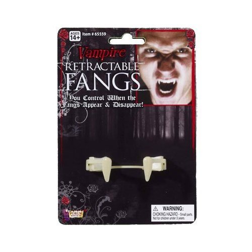 [Forum Novelties Retractable Vampire Fangs Adult] (Retractable Vampire Fangs)