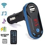 Car Fm Transmitter, Dafana Bluetooth Wireless FM Transmitter MP3 Player Handsfree Car Kit USB TF SD Remote