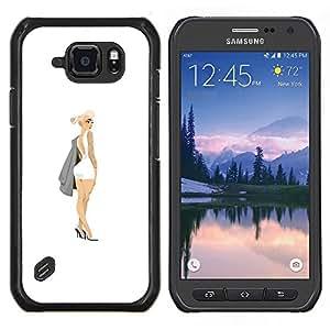TECHCASE---Cubierta de la caja de protección para la piel dura ** Samsung Galaxy S6 Active G890A ** --Mini Tinta Vestido Sexy Legs Pintura Arte Botín
