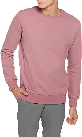 The Project Garments Mens Crew Neck Sweatshirt Dusty Pink Two Tone