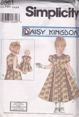 Buy matching girl and doll dress patterns - 2