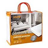 joluzzy Waterproof Mattress Protector - Cotton Terry Surface - Breathable - Noiseless - Hypoallergenic - Vinyl-Free - Fitted Sheet Mattress Cover, Twin Size