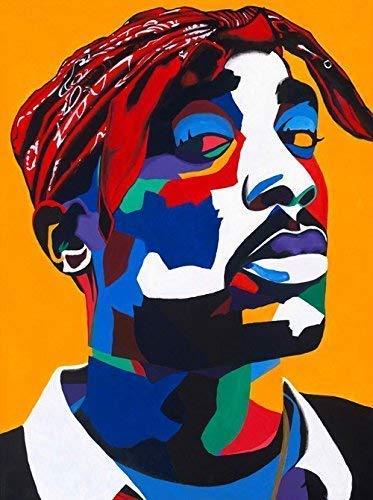 (Vakseen Art - Changed Man - 2pac Art - Tupac Shakur portrait - Limited Edition Giclee Print & Framed Pop Art for Wall)