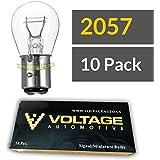 (10 Pack) 2057 Automotive Brake Light Turn Signal Side Marker Light Bulb - Voltage Automotive