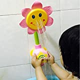 XISHU Sunflower Shower Fountain Tub Toys Baby Bath Toys for Boys and Girls Gifts , pink