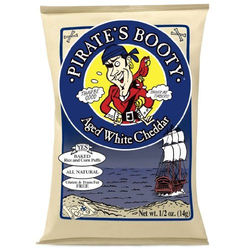 Pirate's Booty Aged Cheddar Lunch Packs, White, 0.5 Ounce- 36 Pack by Pirate Brands