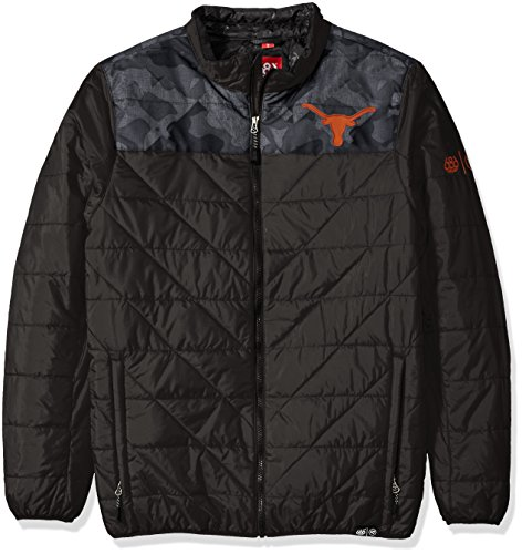 686x47 NCAA Texas Longhorns Men's Flight Insulated Jacket, X-Large, Texas Black