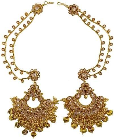 Matra New Indian Traditional Bollywood Goldtone Earrings Set Women Wedding Jewelry