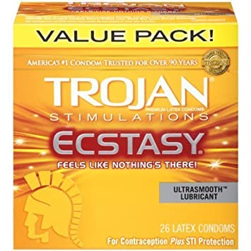 Amazoncom Trojan Ultra Ribbed Ecstasy Lubricated Condoms 26 Count