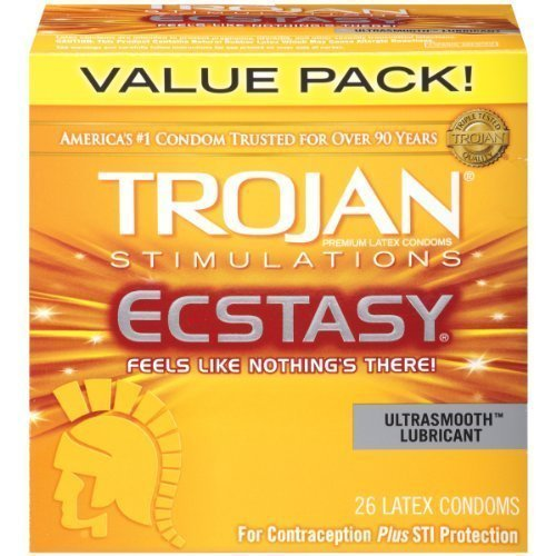 (Trojan Ultra Ribbed Ecstasy Lubricated Condoms, 26 Count)