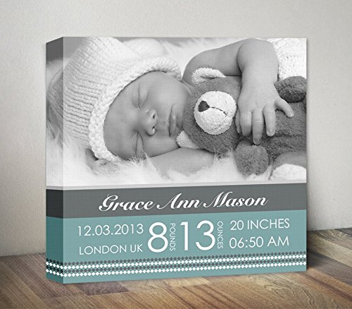 amazon baby birth announcement wall art baby stats nursery