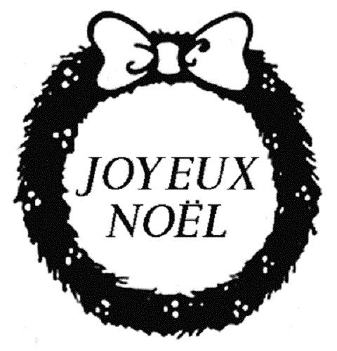 Center Enterprise CEJ9717 Jumbo 'JOYEUX Noel' Stamp, French Center Enterprises Inc.