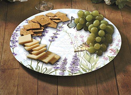 CounterArt Herb Garden Lazy Susan Glass Serving Plate