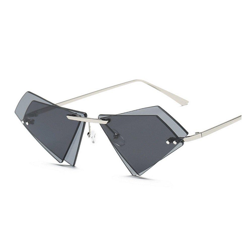 Gafas de unisex sol sin irregular marco personalidad para protección ...