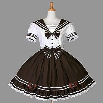8fe313c78 ゴスロリィタ Lolita ロリータ 衣装 洋服 COSMAMA LLT82602 コーヒーとホワイト 半袖 ゴシック ゴスロリ プリンセス お嬢様  レディース